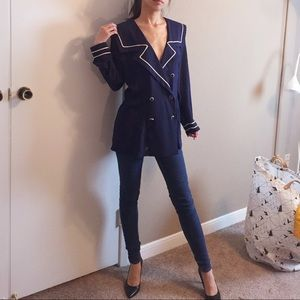Vintage sailor navy blazer by Vino De Casa.